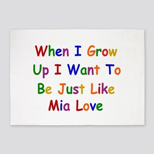 Mia Love when I grow up 5'x7'Area Rug