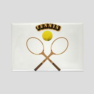 Sports - Tennis Rectangle Magnet