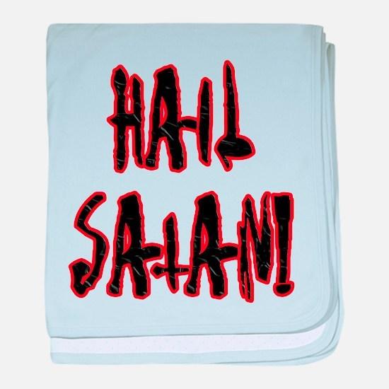 Hail Satan baby blanket