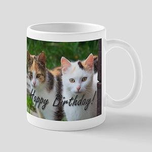 Happy Birthday cats Mugs