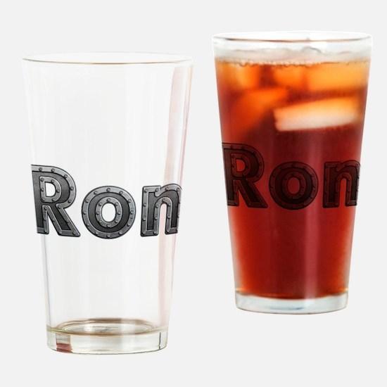 Ron Metal Drinking Glass