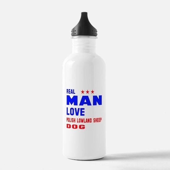 Real Man Love Polish L Water Bottle