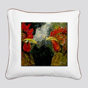 Smoked Chickens Square Canvas Pillow