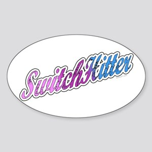 Switch Hitter Oval Sticker