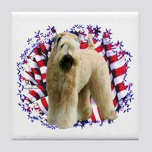 Wheaten Patriot Tile Coaster