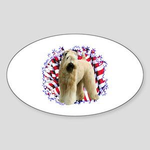 Wheaten Patriot Oval Sticker