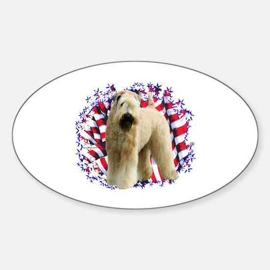 Wheaten Patriot Oval Decal