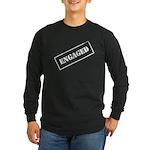 Engaged Stamp Long Sleeve Dark T-Shirt