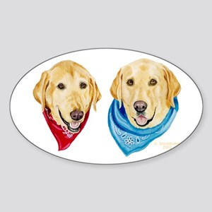 Labrador Art Oval Sticker