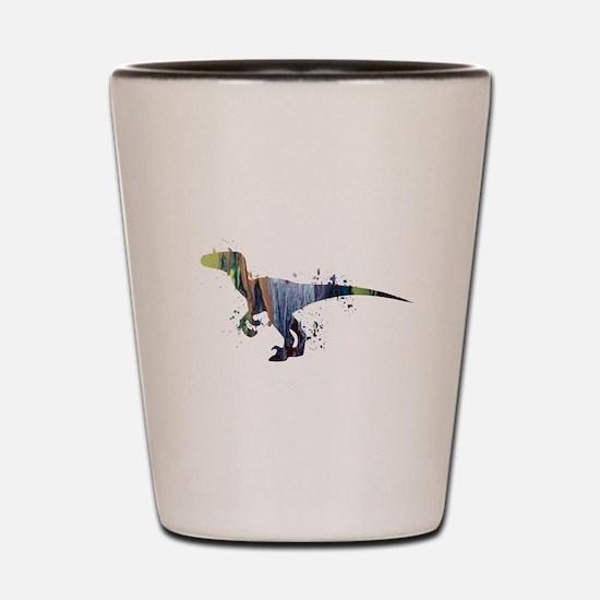 Velociraptor Shot Glass