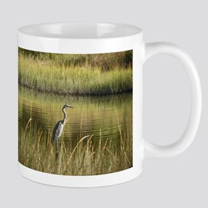 OCTOBER BLUE HERON Mugs