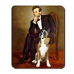 Lincoln & his Boxer Mousepad