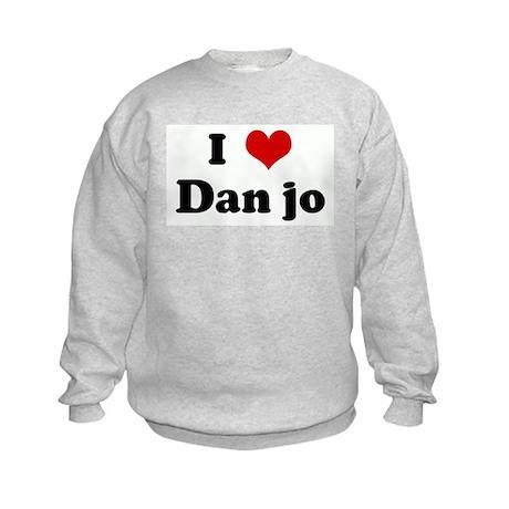 I Love Dan jo Kids Sweatshirt