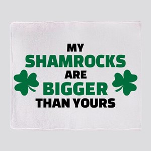 My shamrocks are bigger than yours Throw Blanket