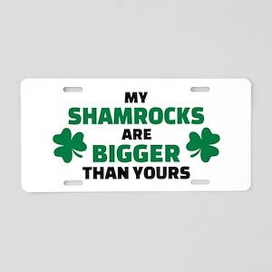 My shamrocks are bigger tha Aluminum License Plate
