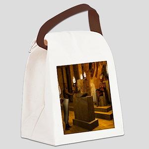 Queen Nefertiti's Bust Canvas Lunch Bag