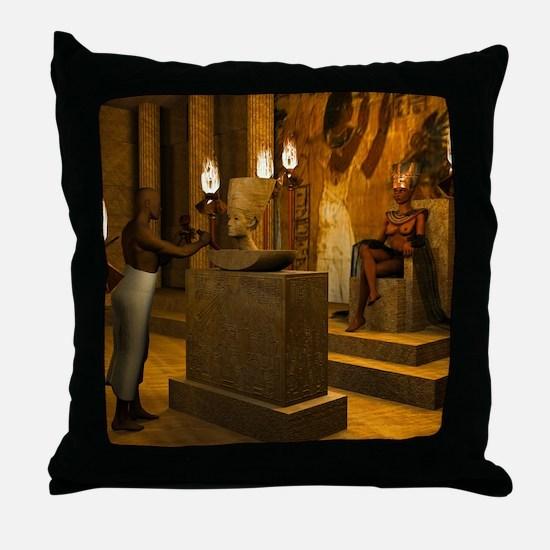 Queen Nefertiti's Bust Throw Pillow