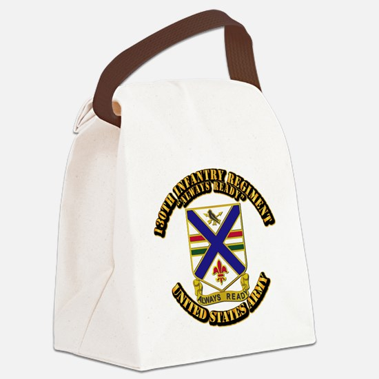 DUI - 130th Infantry Regt w Text Canvas Lunch Bag