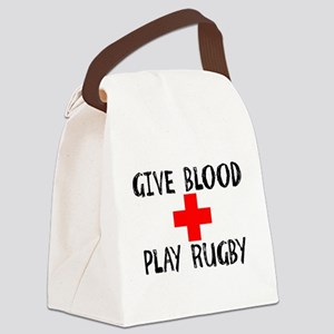 Give Blood, Play Rugby Canvas Lunch Bag