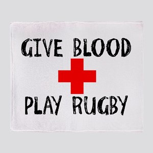 Give Blood, Play Rugby Throw Blanket