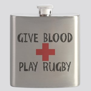 Give Blood, Play Rugby Flask