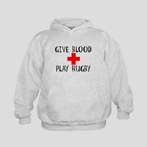 Give Blood, Play Rugby Hoodie