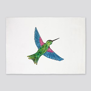 Hummingbird 5'x7'Area Rug