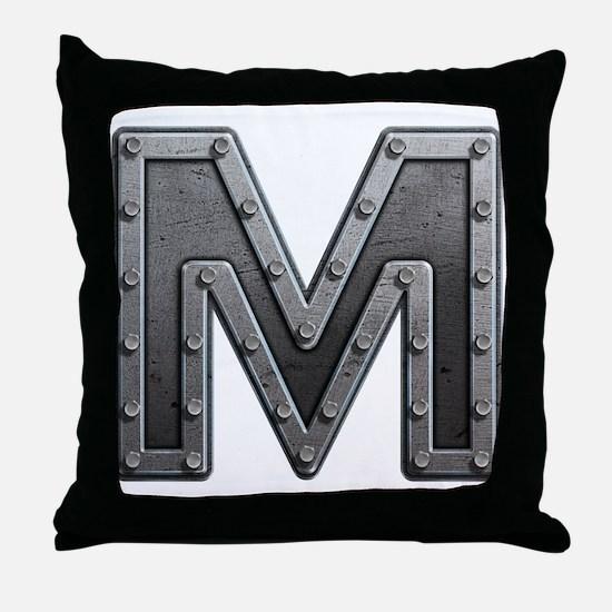 M Metal Throw Pillow