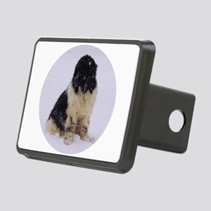 Snowy Landseer Rectangular Hitch Cover