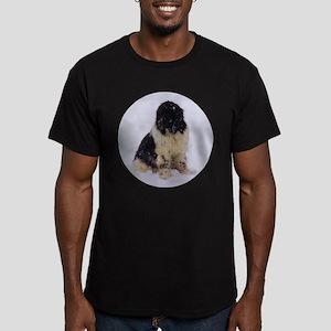 Snowy Landseer Men's Fitted T-Shirt (dark)