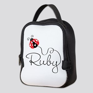 Ladybug Ruby Neoprene Neoprene Lunch Bag