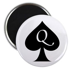 Queen Of Spades Magnets