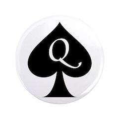 Queen Of Spades 3.5&Quot; Button