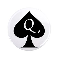 Queen Of Spades 3.5&Quot; Button