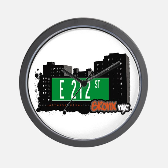 E 212 St, Bronx, NYC Wall Clock