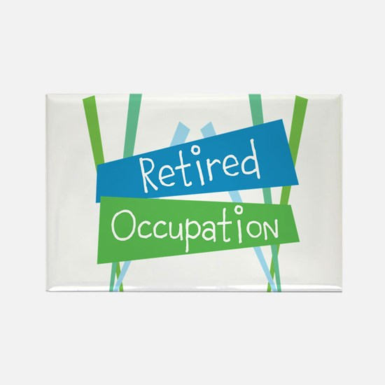 CUSTOMIZE Retired Rectangle Magnet