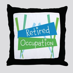 CUSTOMIZE Retired Throw Pillow