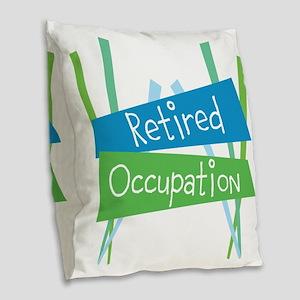 CUSTOMIZE Retired Burlap Throw Pillow