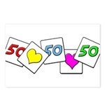 Love Being 50 Postcards (Package of 8)