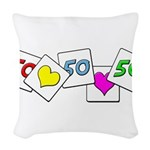 Love Being 50 Woven Throw Pillow