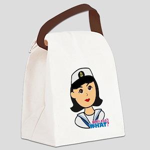 Medium Navy Head - Dress Whites Canvas Lunch Bag