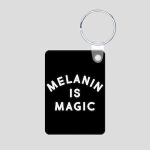 Melanin Is Magic Aluminum Photo Keychain