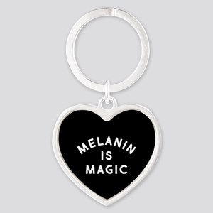 Melanin Is Magic Heart Keychain
