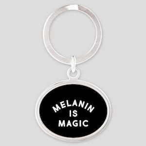 Melanin Is Magic Oval Keychain