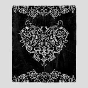 Grotesquerie Heart Throw Blanket