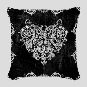 Grotesquerie Heart Woven Throw Pillow