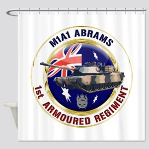 M1A1 Abrams Australia Shower Curtain