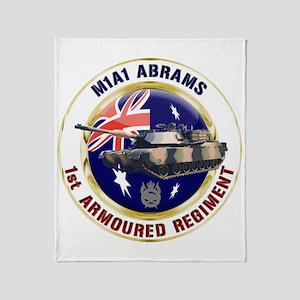 M1A1 Abrams Australia Throw Blanket