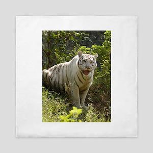 White tiger 008 Queen Duvet