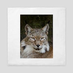 siberian lynx 001 Queen Duvet
